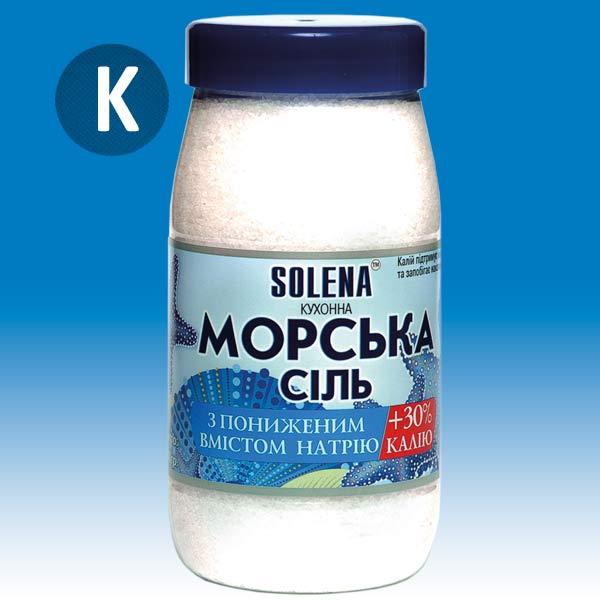 Морская соль с калием SOLENA