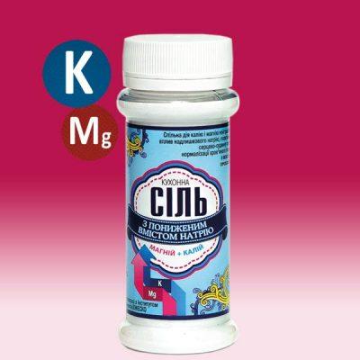 Соль кухонная с пониженным содержанием натрия +калий +магний