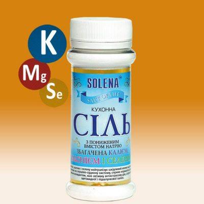 Соль кухонная с пониженным содержанием натрия +калий +магний +селен